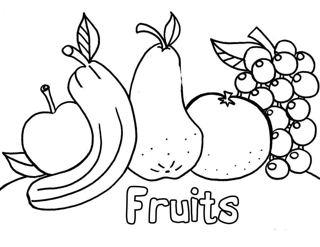 Great Image of Fruits And Vegetables Coloring Pages