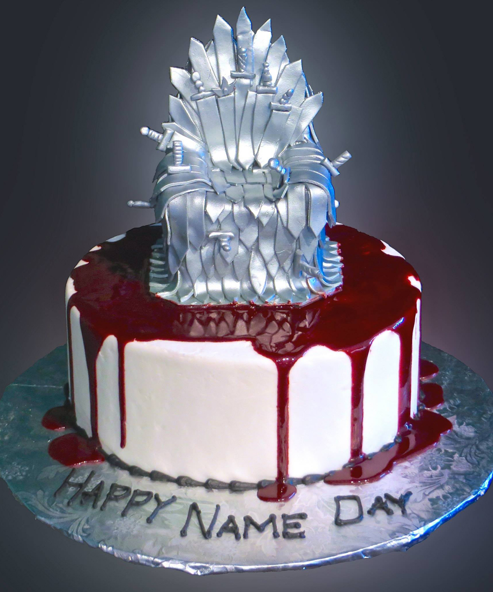 Game Of Thrones Birthday Cake How To Make A Iron Throne Topper Occasion
