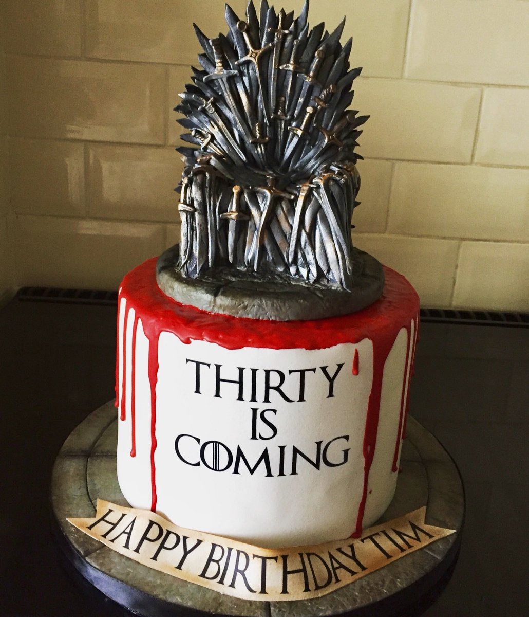 Game Of Thrones Birthday Cake Sarah Phillips On Twitter 30th For