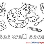 Get Well Coloring Pages Best Get Well Soon Card Coloring Pages Page Free Printable 5 In