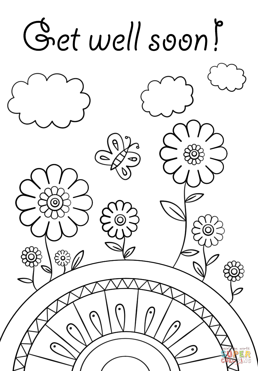 Get Well Coloring Pages Coloring Pages Coloring Pages Get Well Soon Page Free Printable