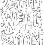 Get Well Coloring Pages Coloring Pages Get Well Soonring Pages Boy For Kids Boysget Get