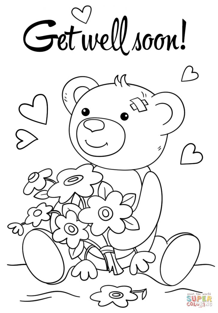 Get Well Coloring Pages Coloring Pages Get Well Wishes Coloring Pages Cute Soon Page
