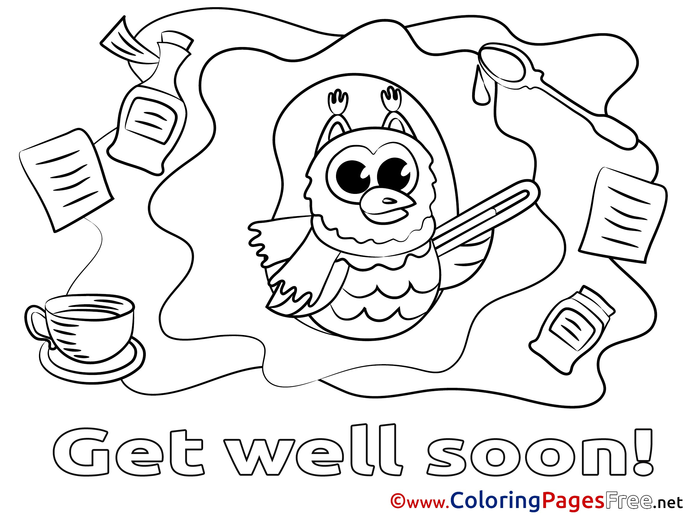 Get Well Coloring Pages Elegant Get Well Soon Coloring Pages 72 With Additional Print Of