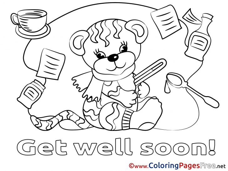 Get Well Coloring Pages Get Well Soon Coloring Page Free Printable Pages For Wuming