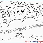 Get Well Coloring Pages Get Well Soon Coloring Pages Cute Sun For Kids Get Well Soon