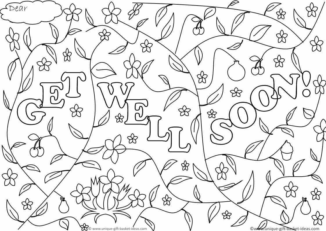 Get Well Coloring Pages Get Well Soon Doodle 2 Coloring Page Get Well Coloring Pages