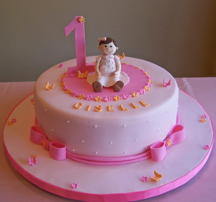 Girls First Birthday Cake First Birthday Cake Little Girl 10 Cake Beth Flickr
