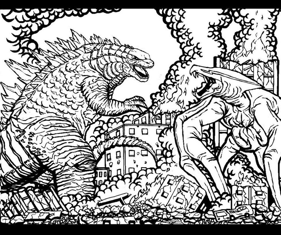 Godzilla Coloring Pages 11 Pics Of Muto Godzilla Coloring Pages Coloring Pages Godzilla