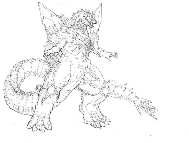 Godzilla Coloring Pages Godzilla Coloring Pages Easy Hand Drawing Vs Mecha Pretty Vs 319