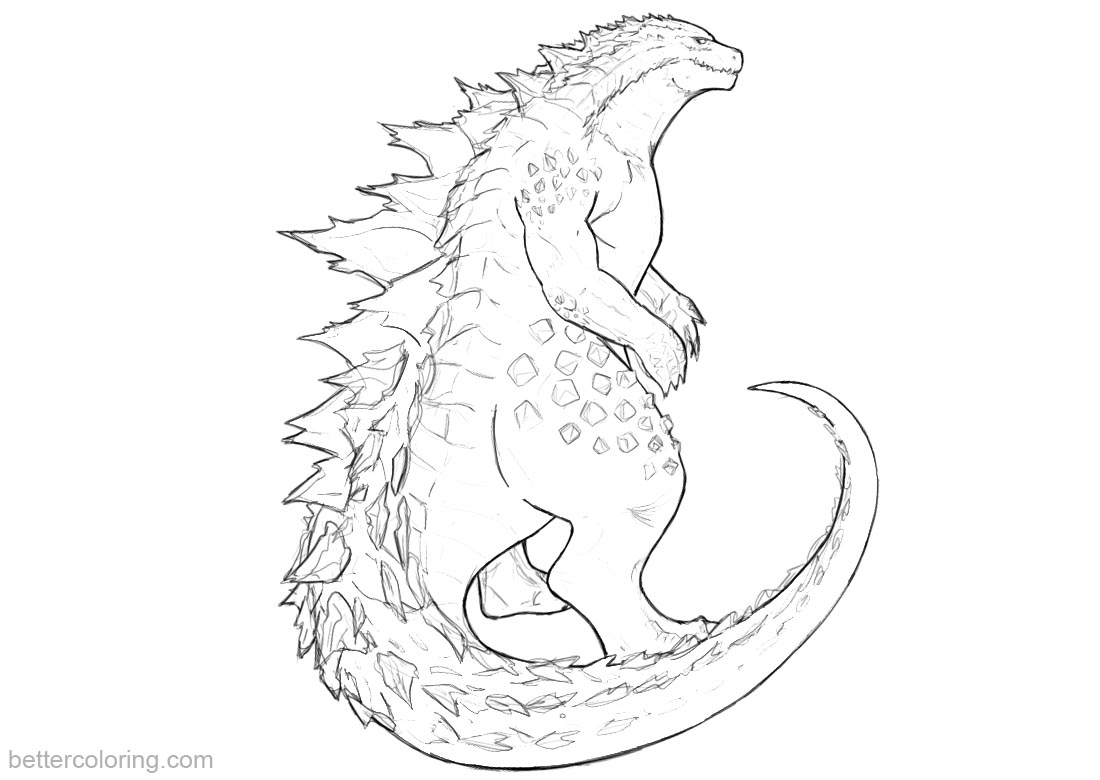 Godzilla Coloring Pages Godzilla Coloring Pages Fanart Free Printable Coloring Pages