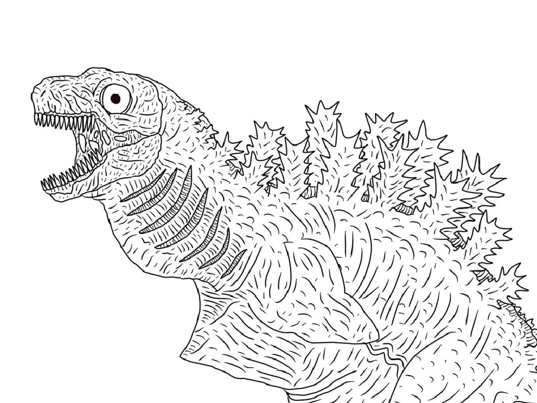 Godzilla Coloring Pages Godzilla Coloring Pages For Kids Educative Printable