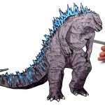 Godzilla Coloring Pages Godzilla Coloring Pages For Kids To Learn Colors Draw And Color