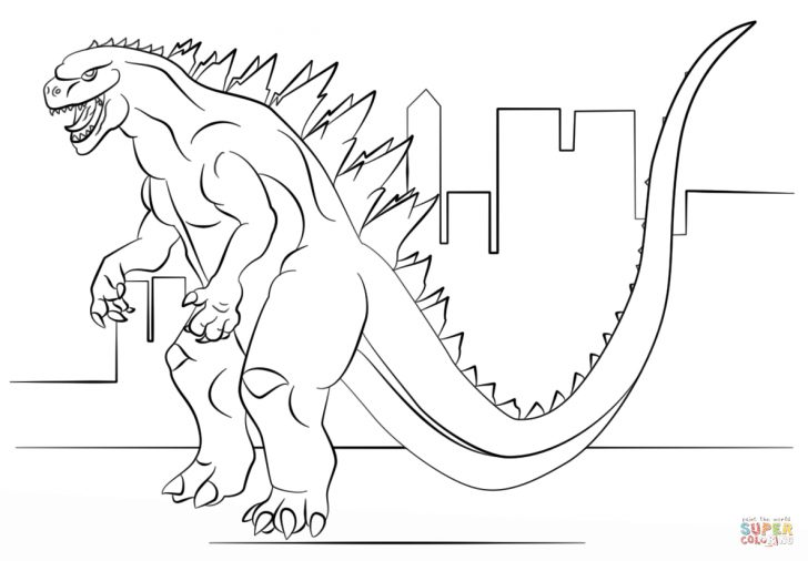 Godzilla Coloring Pages Godzilla Coloring Pages Godzilla Coloring Page Free Printable