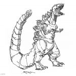 Godzilla Coloring Pages Godzilla Coloring Pages Sketch Kwmt Free Printable Coloring Pages
