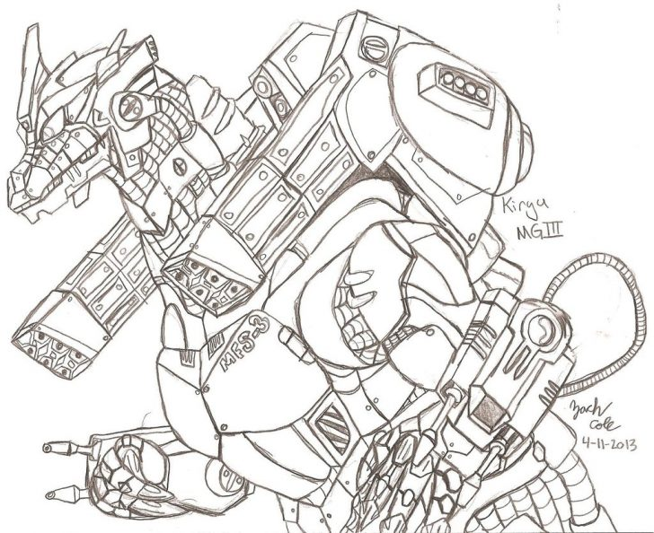 Godzilla Coloring Pages Mechagodzilla Drawing At Getdrawings Free For Personal Use