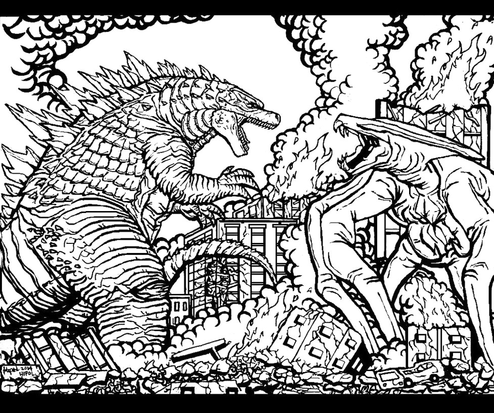 Godzilla Coloring Pages Space Godzilla Coloring Page Free Printable Pages In Ba Boom