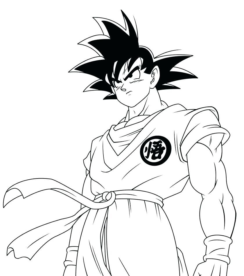 30+ Excellent Picture of Goku Coloring Pages