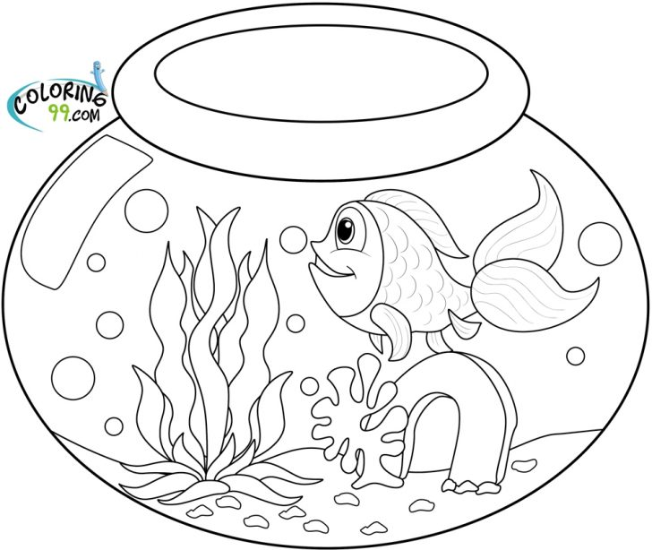 Goldfish Coloring Page 25 Fish Bowl Coloring Page Pictures Free Coloring Pages