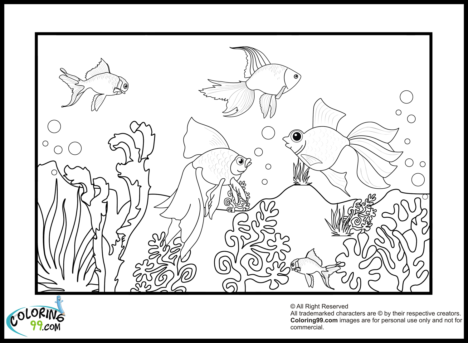 Goldfish Coloring Page Goldfish Coloring Pages Minister Coloring