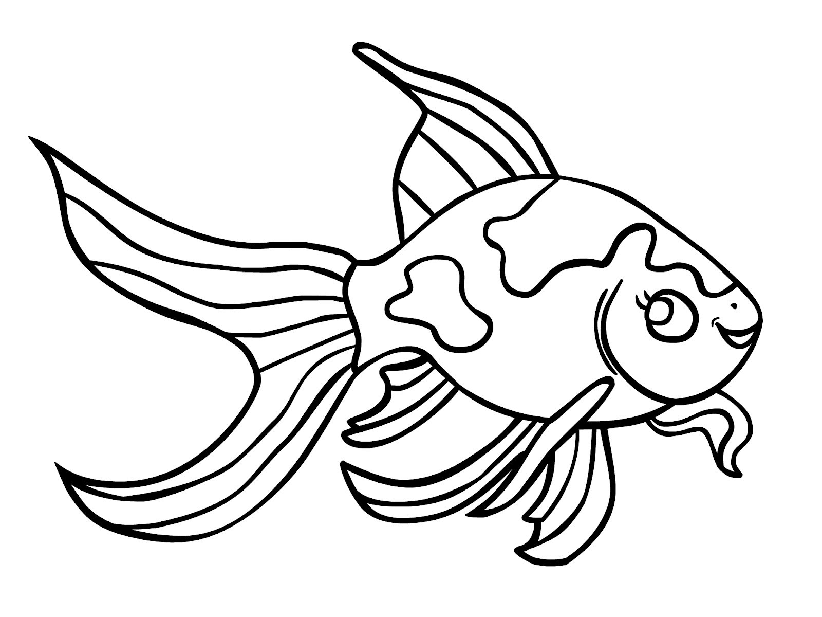Goldfish Coloring Page Kid Animal Coloring Pages Fish 2 S Hurry Goldfish Page Free