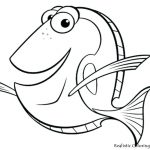 Goldfish Coloring Page Spotlight Picture Of A Fish To Color Engaging Coloring Page Pages