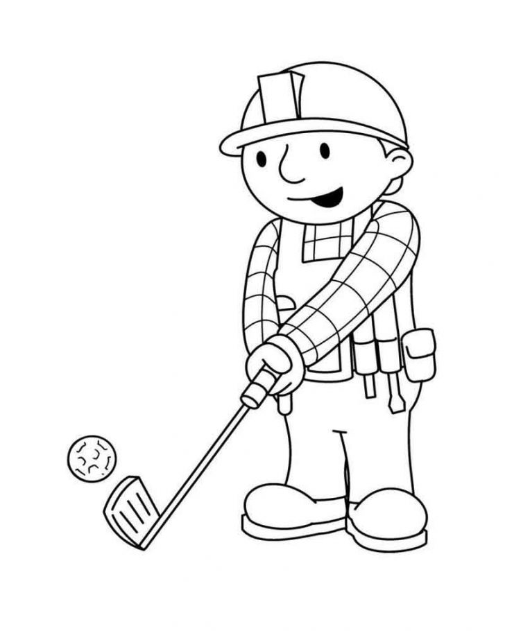 Golf Coloring Pages Bob Golf Coloring Pages Printable Coloring Sheets