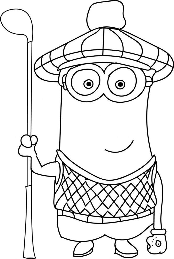 Golf Coloring Pages Coloring Page Unique Coloring Books Minion Golf Page Pages