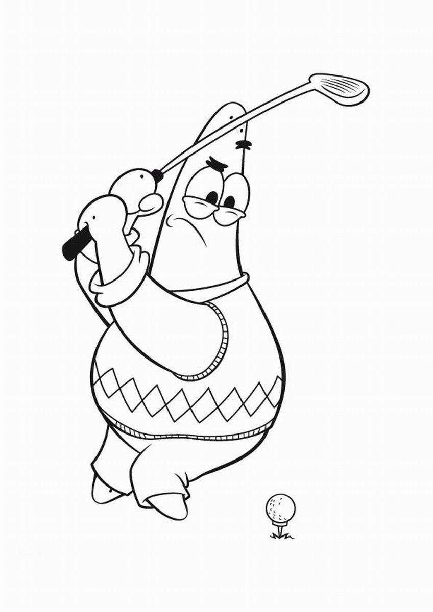 Golf Coloring Pages Golf Coloring Pages