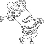 Golf Coloring Pages Minions Coloring Pages Wecoloringpage