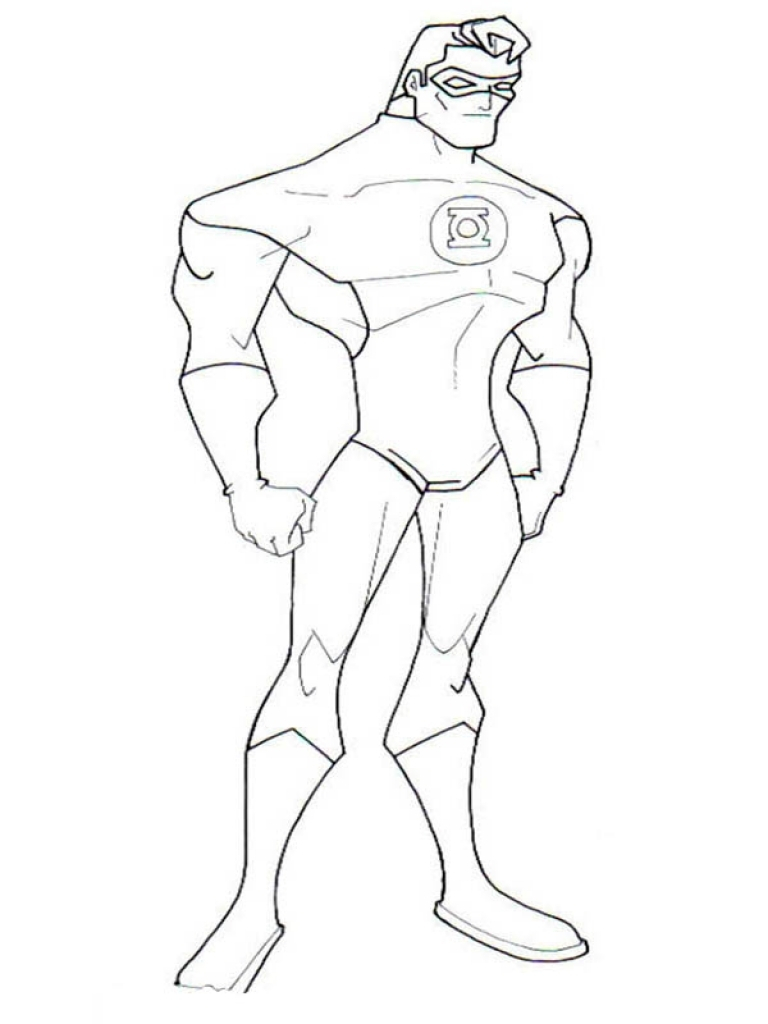 Green Lantern Coloring Pages Cool Green Lantern Coloring Pages Coloringsuite