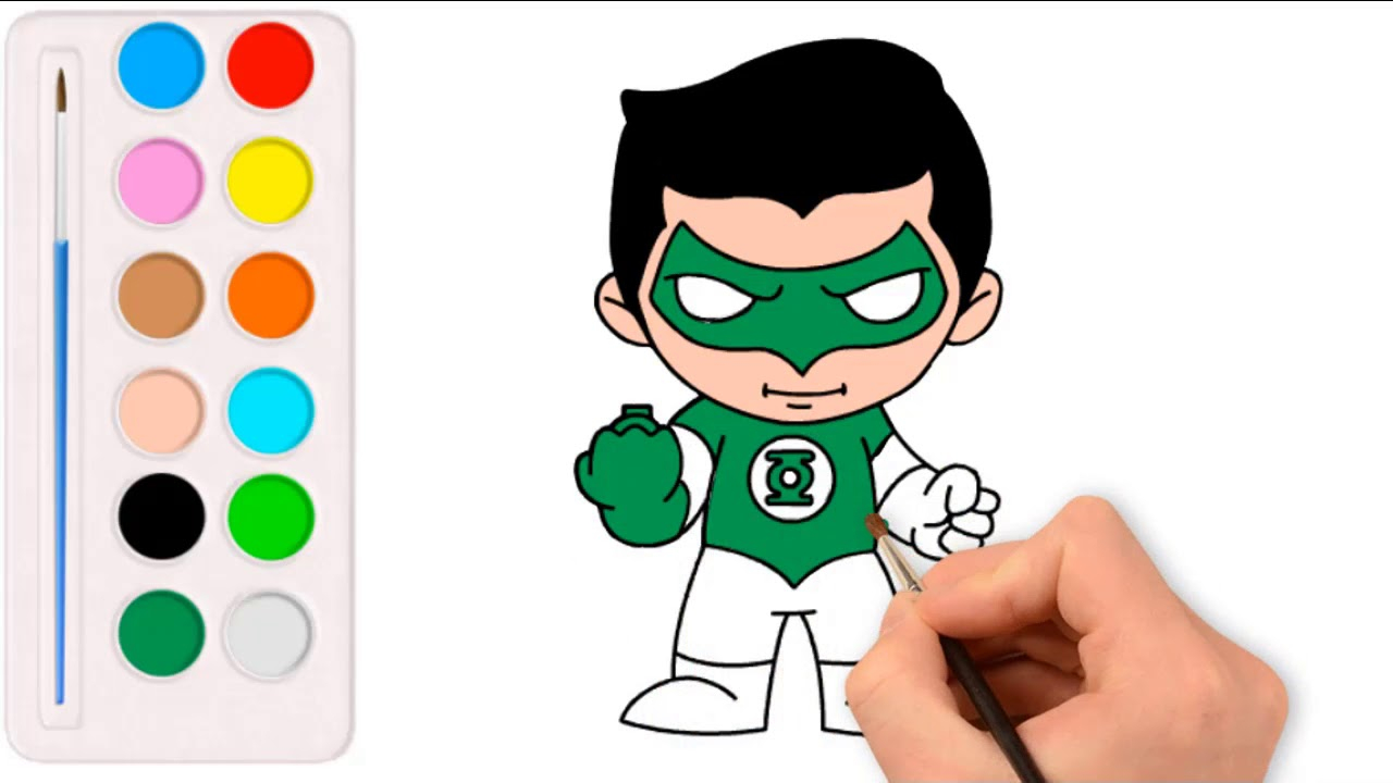 Green Lantern Coloring Pages Drawing Green Lantern Coloring Pages For Children Youtube