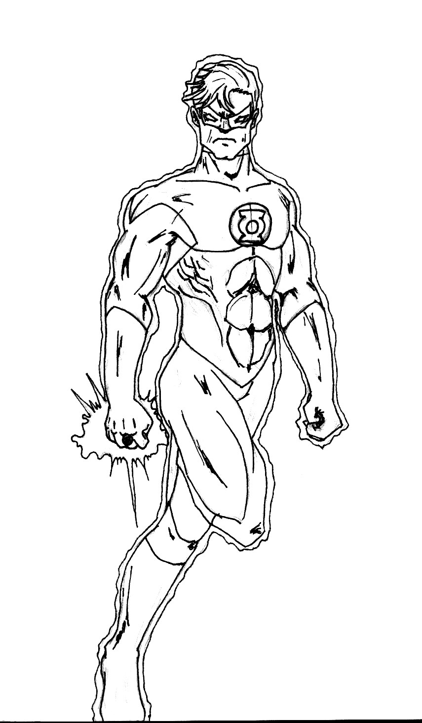 Green Lantern Coloring Pages Green Lantern Coloring Pages All New Bitslice