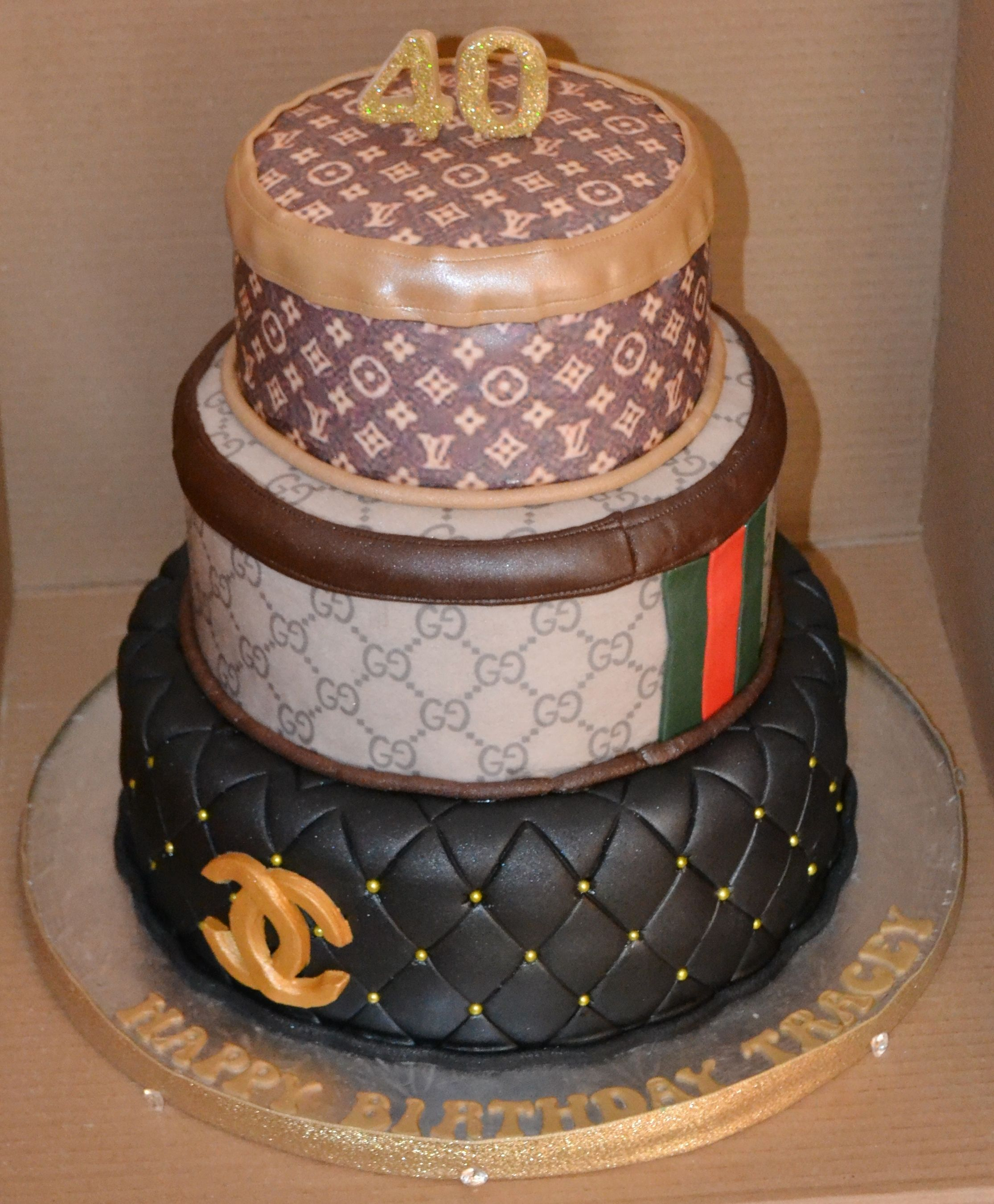 Gucci Birthday Cake Chanel Gucci And Louis Vuitton 3 Tier Cake Great Birthday Cake