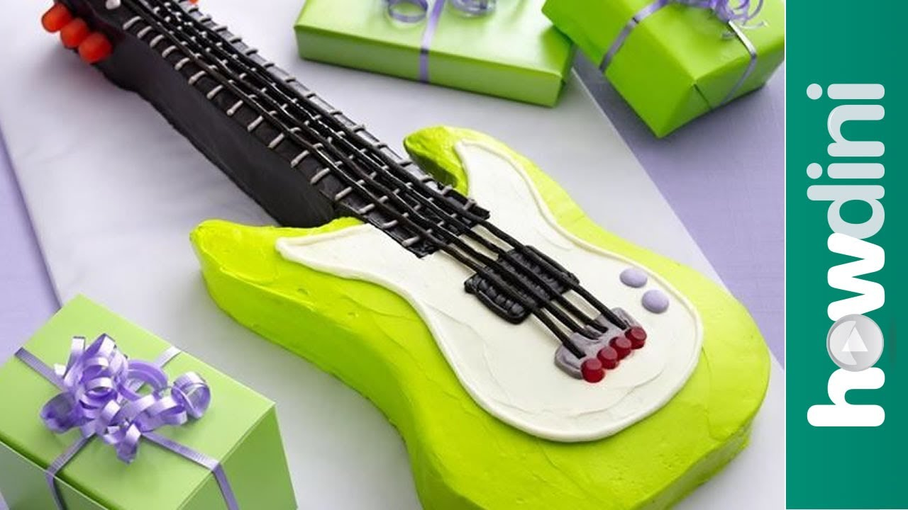 Guitar Birthday Cake Birthday Cake Ideas Electric Guitar Birthday Cake Youtube