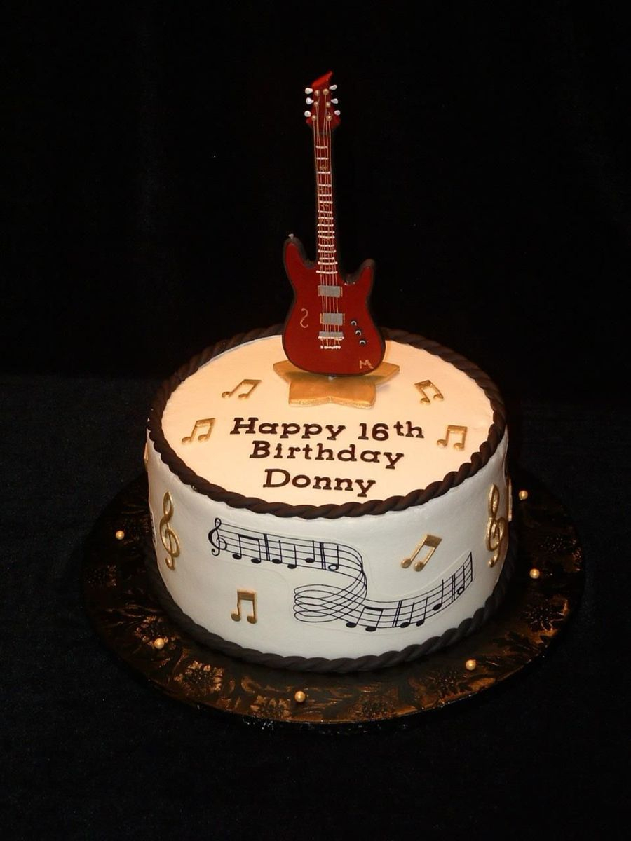 Guitar Birthday Cake Birthday Guitar For Donny Cakecentral