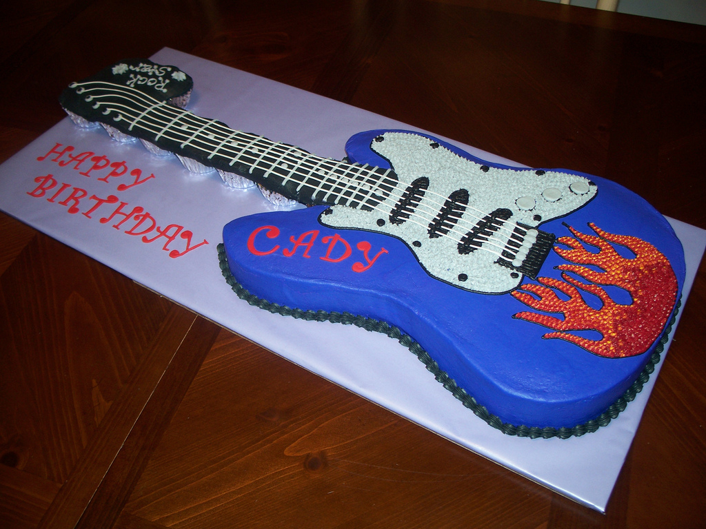 Guitar Birthday Cake Electric Guitar Birthday Cake Jennifer Flickr