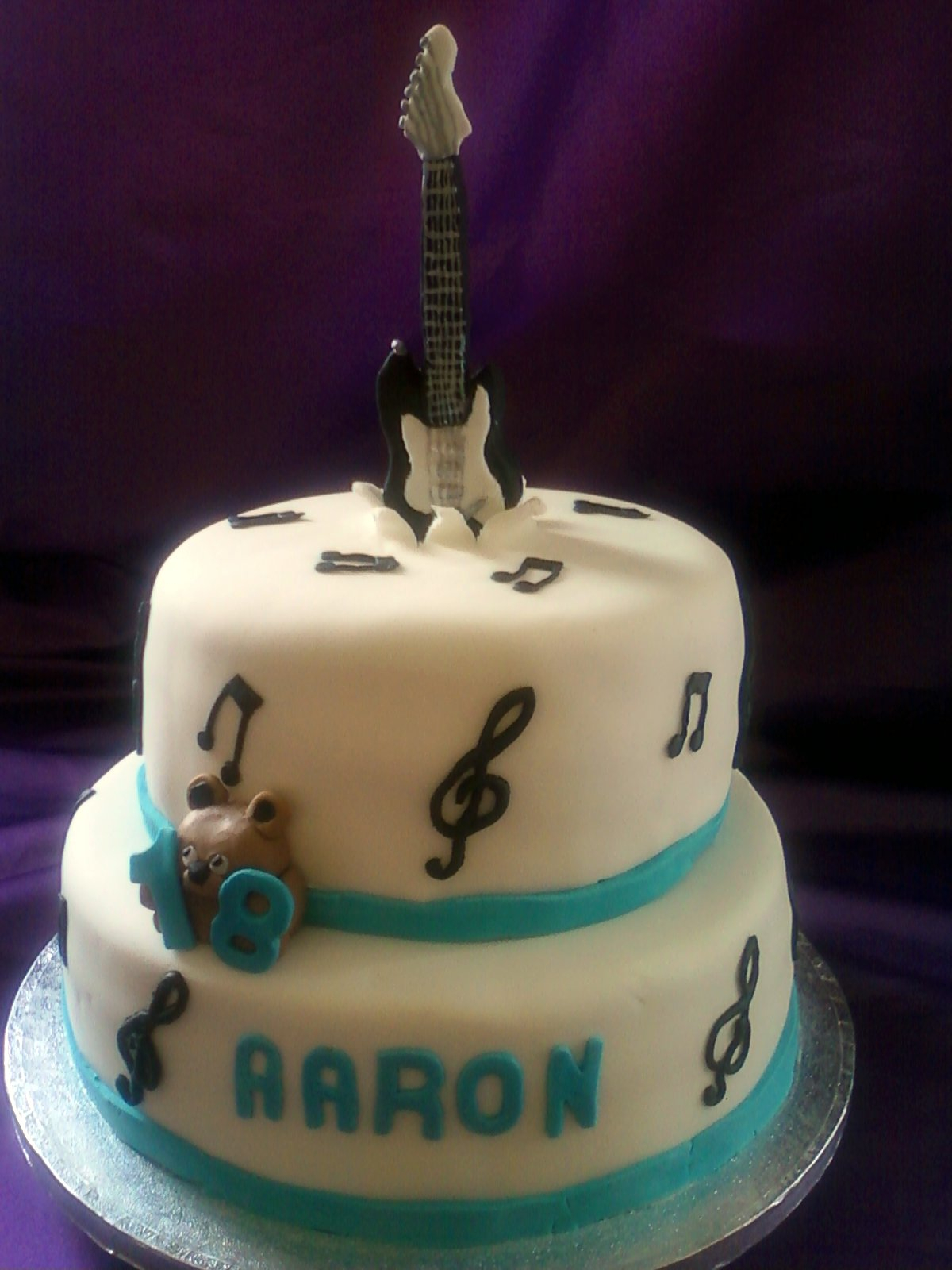 Guitar Birthday Cake Guitar Birthday Cake 2 Tier