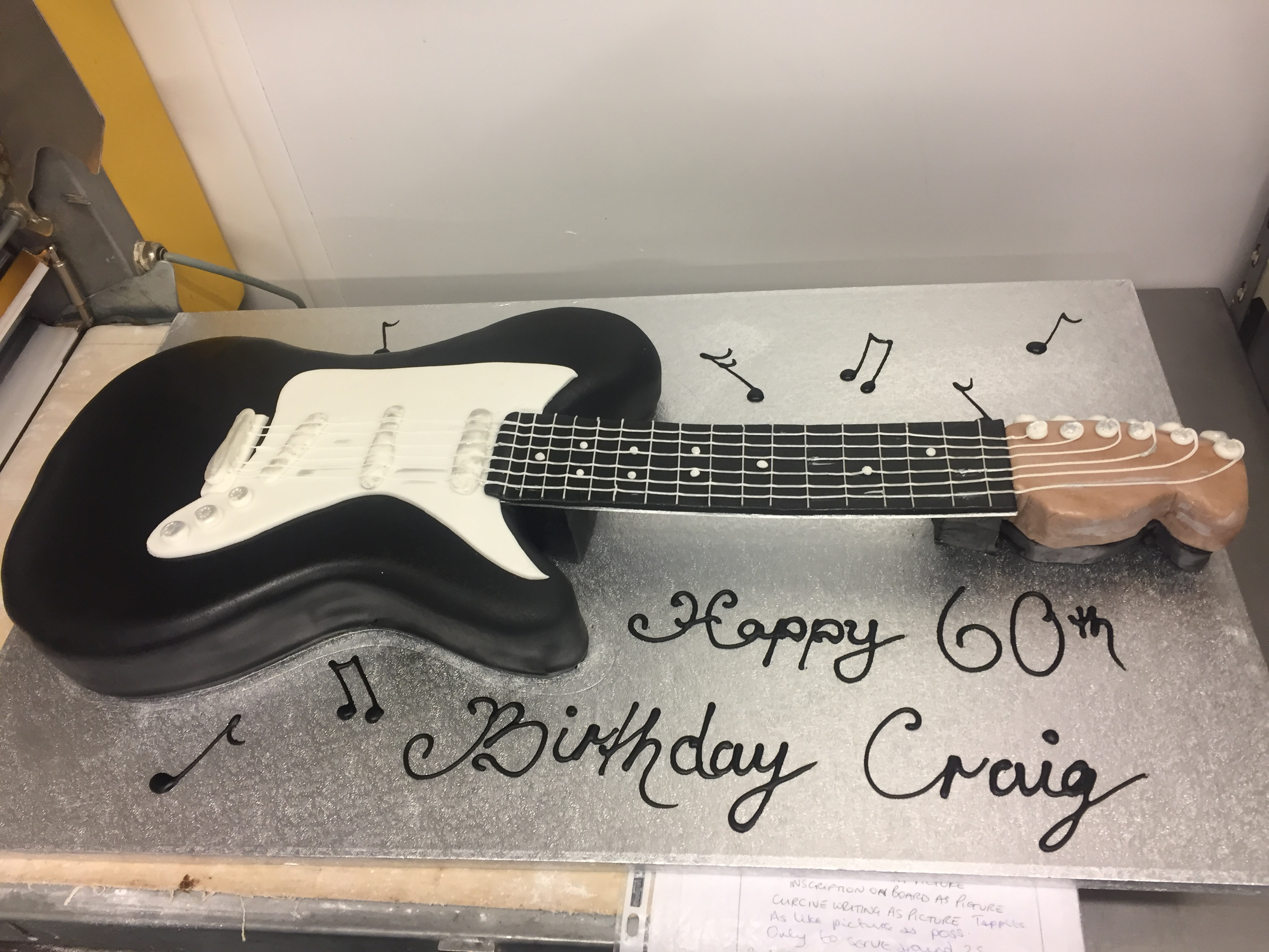 Guitar Birthday Cake Guitar Birthday Cake M Rays Bakery