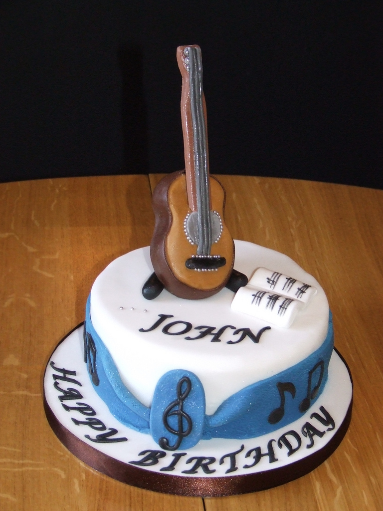 Guitar Birthday Cake Guitar Birthday Cake This Was A Small Toffee Birthday Cake Flickr