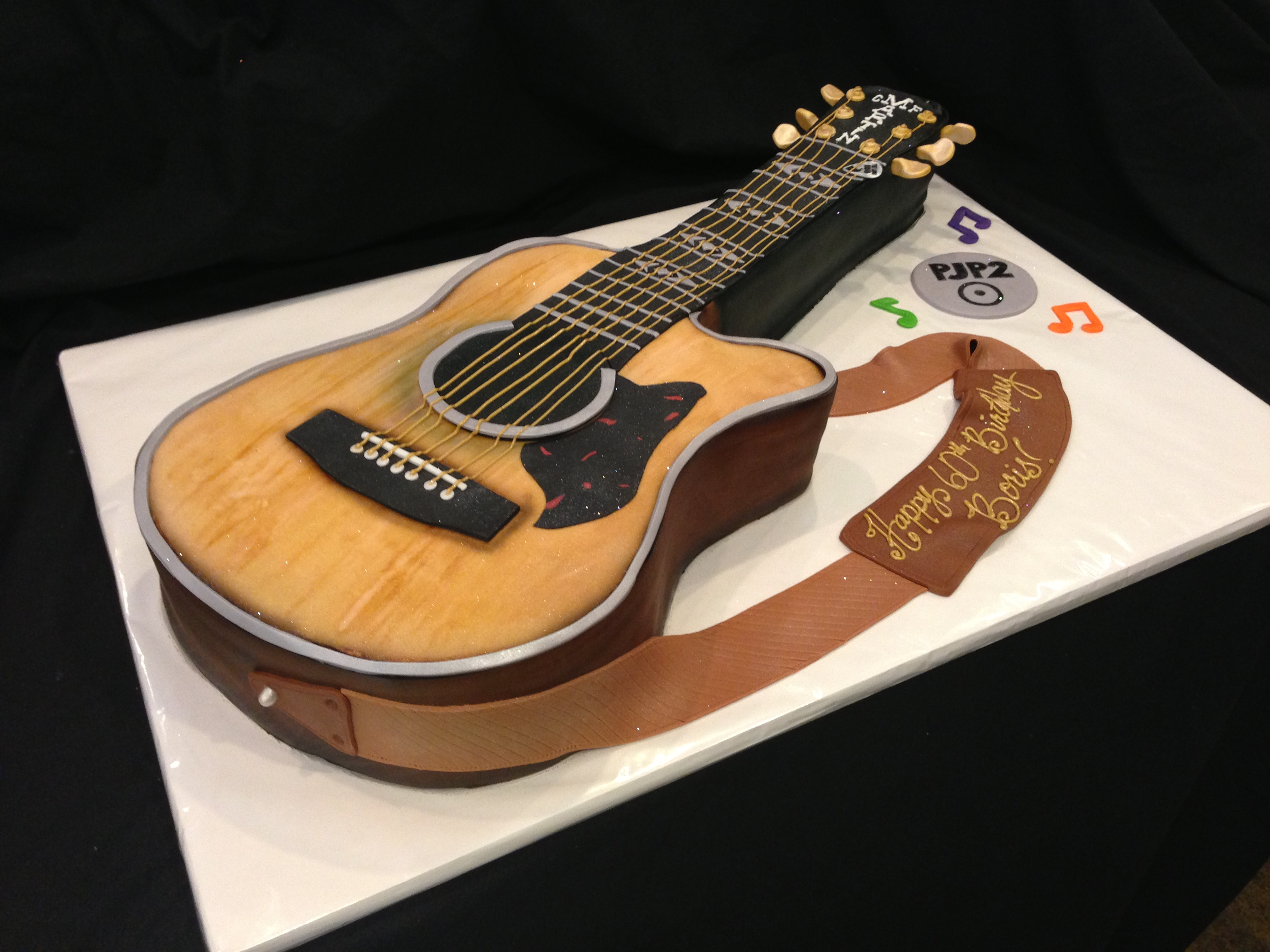 Guitar Birthday Cake Guitar Birthday Cakes