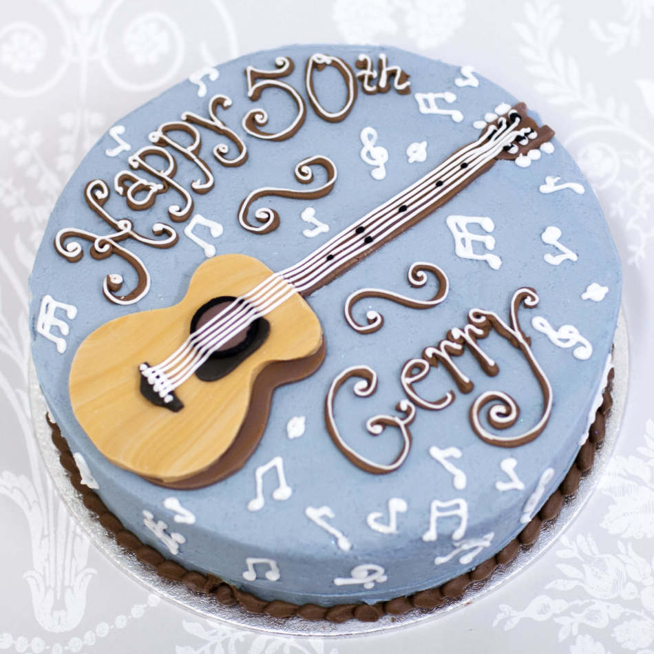 Guitar Birthday Cake Guitar Buttercream Cake Birthday Cakes