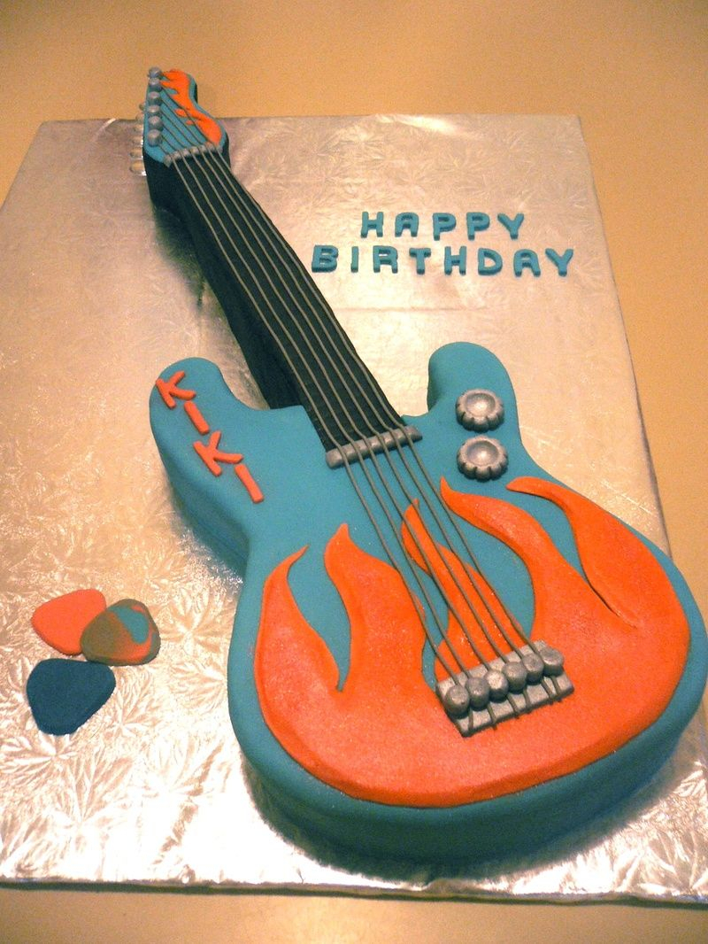 Guitar Birthday Cake Guitar Cake I Would Like To Have For Stevens 16th Birthday