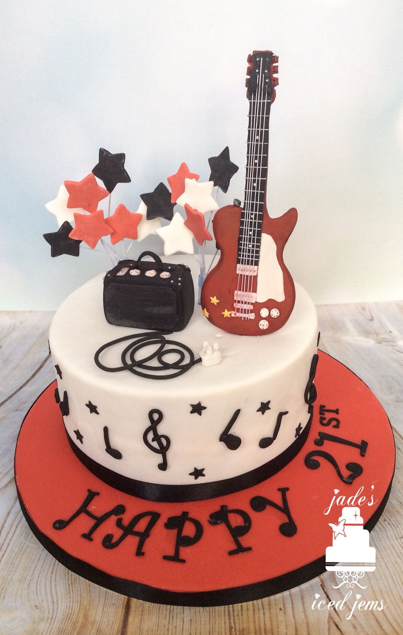 Guitar Birthday Cake Guitar Cake Music Cake 21st Birthday Cake Trevor Birthday Ideas