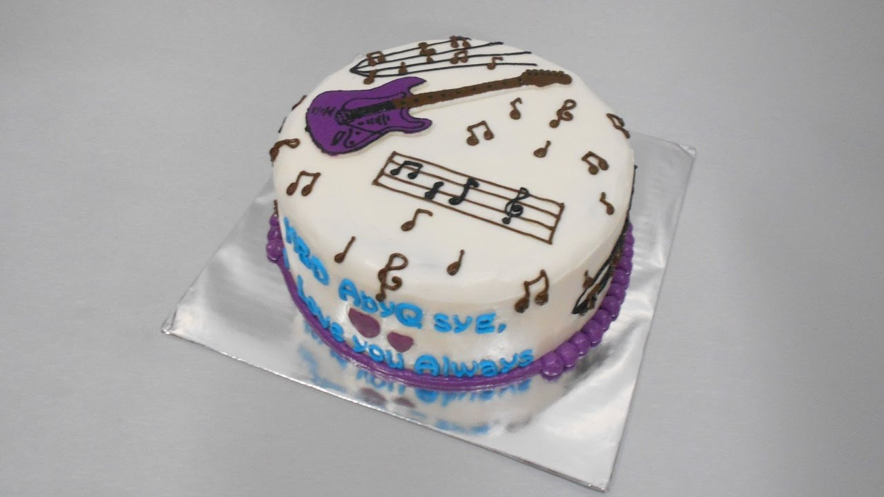 Guitar Birthday Cake Guitar Cake Tutorial Easy Youtube