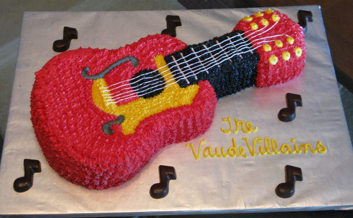 Guitar Birthday Cake Guitar Cakes Decoration Ideas Little Birthday Cakes