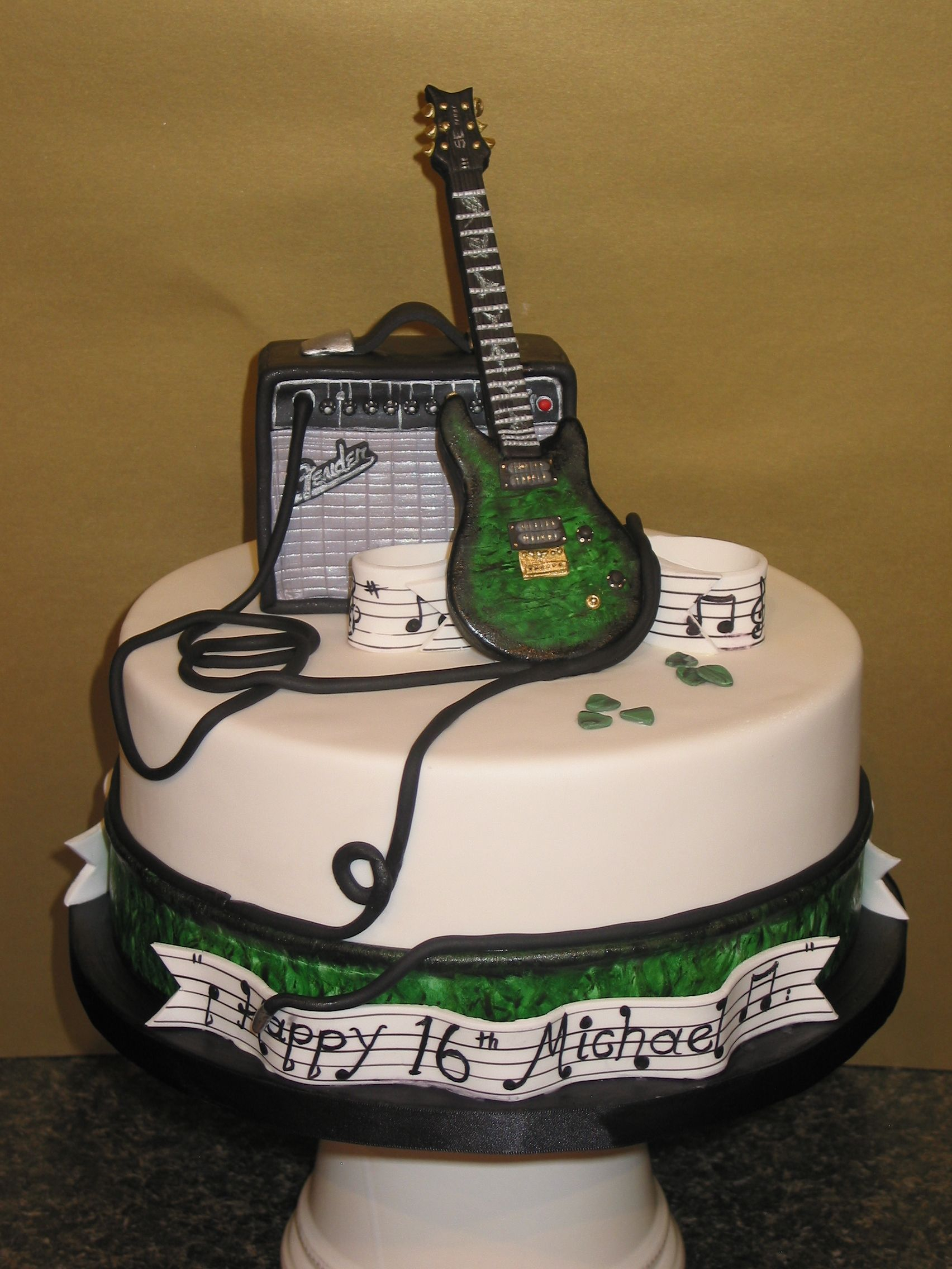 32+ Inspired Picture of Guitar Birthday Cake