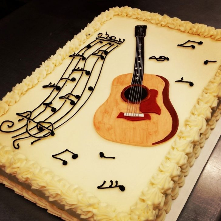 Guitar Birthday Cake Pin Baleria Lizzette On L E T S P A R T Y Cake Birthday Cake