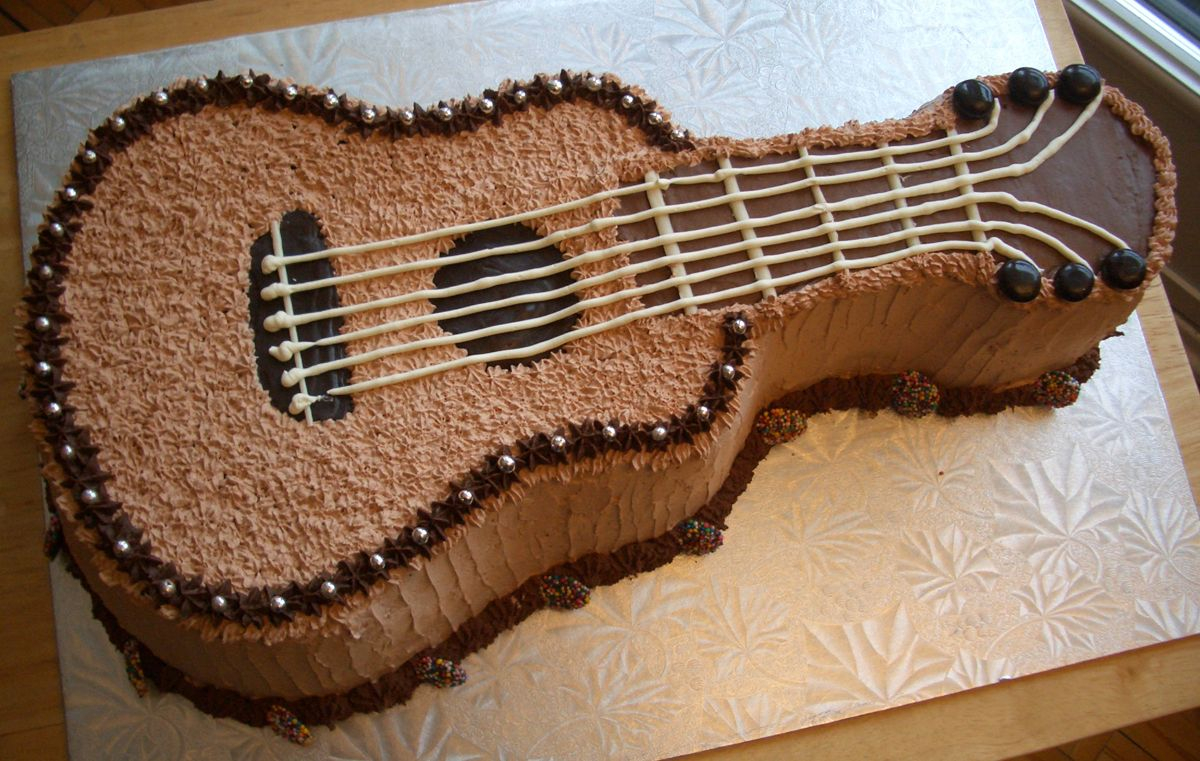 Guitar Birthday Cake Pin Kristy Nelson On Cakes Pinterest Guitar Cake Cake And