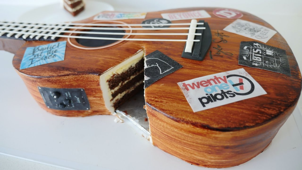 Guitar Birthday Cake Realistic Guitar Cake How To Cook That Ann Reardon Cake Youtube